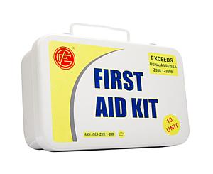 10 Person ANSI/OSHA First Aid Kit, Metal Case