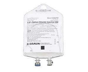 0.9% Sodium Chloride Injection USP, 50 mL, 157 PAB