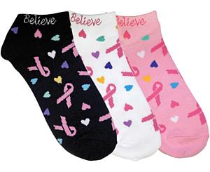Fashion Socks, 3 Pack, Love and Believe, Print