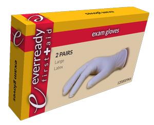 Exam Gloves, Latex, Lightly Powdered, Kit Box