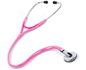 Clinical Stereo Stethoscope, Adult, Hot Pink