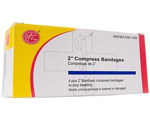 Compress Bandage, Off Center, 2, 4 per box