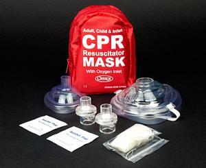 Adult & Infant CPR Mask Combo Kit w/ 2 Valves