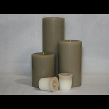 6 inch Woodsy Saffron Pillar