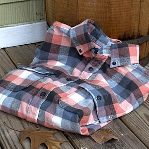 Plaid Button Down Shirt Mountain Maple Red, Large