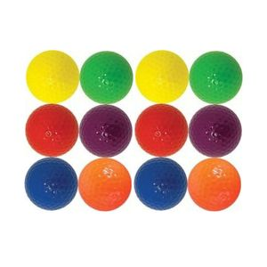 One dozen brightly colored Golf Balls