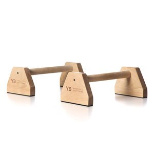 Birch Wood Parallettes YOGABODY® (set of 2) | Beautiful, Smooth, Anti-Slip Yoga & Gymnastic